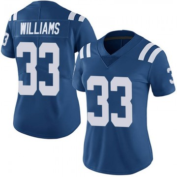 Women's Nike Indianapolis Colts Jonathan Williams Royal Team Color Vapor Untouchable Jersey - Limited