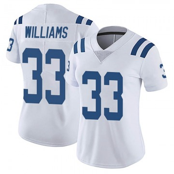 Women's Nike Indianapolis Colts Jonathan Williams White Vapor Untouchable Jersey - Limited