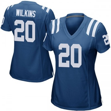 Women's Nike Indianapolis Colts Jordan Wilkins Royal Blue Team Color Jersey - Game
