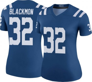 Women's Nike Indianapolis Colts Julian Blackmon Black Color Rush Royal Jersey - Legend