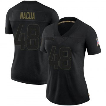 Women's Nike Indianapolis Colts Kai Nacua Black 2020 Salute To Service Jersey - Limited