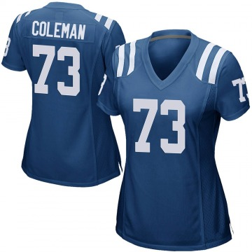 Women's Nike Indianapolis Colts Kendall Coleman Royal Blue Team Color Jersey - Game