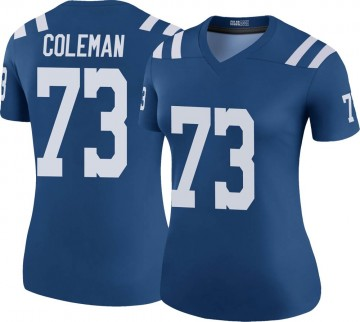 Women's Nike Indianapolis Colts Kendall Coleman Royal Color Rush Jersey - Legend