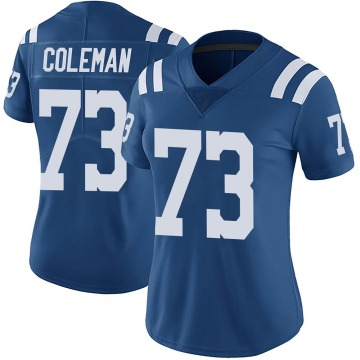 Women's Nike Indianapolis Colts Kendall Coleman Royal Color Rush Vapor Untouchable Jersey - Limited