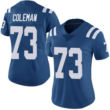 Women's Nike Indianapolis Colts Kendall Coleman Royal Team Color Vapor Untouchable Jersey - Limited