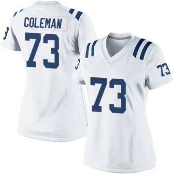 Women's Nike Indianapolis Colts Kendall Coleman White Jersey - Game