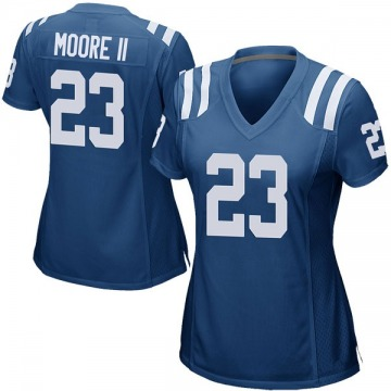 Women's Nike Indianapolis Colts Kenny Moore II Royal Blue Team Color Jersey - Game