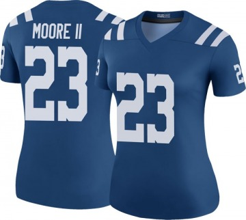 Women's Nike Indianapolis Colts Kenny Moore II Royal Color Rush Jersey - Legend