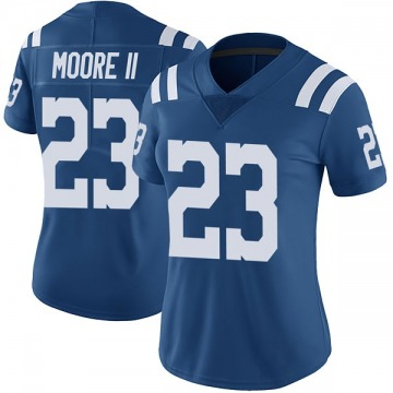 Women's Nike Indianapolis Colts Kenny Moore II Royal Color Rush Vapor Untouchable Jersey - Limited