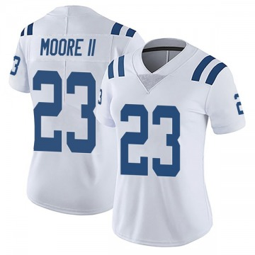 Women's Nike Indianapolis Colts Kenny Moore II White Vapor Untouchable Jersey - Limited