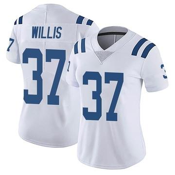 Women's Nike Indianapolis Colts Khari Willis White Vapor Untouchable Jersey - Limited