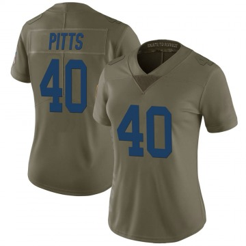 Women's Nike Indianapolis Colts Lafayette Pitts Green 2017 Salute to Service Jersey - Limited