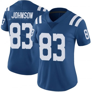 Women's Nike Indianapolis Colts Marcus Johnson Royal Color Rush Vapor Untouchable Jersey - Limited