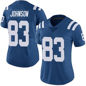 Women's Nike Indianapolis Colts Marcus Johnson Royal Team Color Vapor Untouchable Jersey - Limited