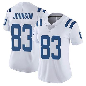 Women's Nike Indianapolis Colts Marcus Johnson White Vapor Untouchable Jersey - Limited