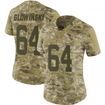 Women's Nike Indianapolis Colts Mark Glowinski Camo 2018 Salute to Service Jersey - Limited