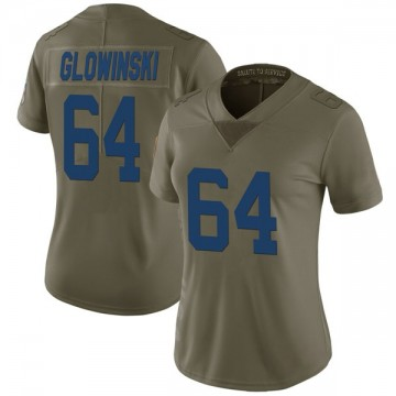 Women's Nike Indianapolis Colts Mark Glowinski Green 2017 Salute to Service Jersey - Limited