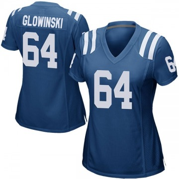 Women's Nike Indianapolis Colts Mark Glowinski Royal Blue Team Color Jersey - Game