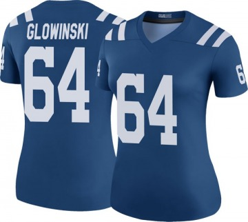 Women's Nike Indianapolis Colts Mark Glowinski Royal Color Rush Jersey - Legend