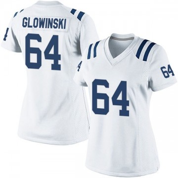 Women's Nike Indianapolis Colts Mark Glowinski White Jersey - Game