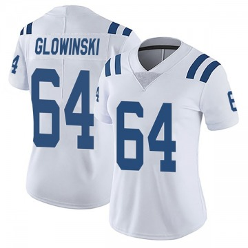 Women's Nike Indianapolis Colts Mark Glowinski White Vapor Untouchable Jersey - Limited