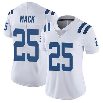 Women's Nike Indianapolis Colts Marlon Mack White Vapor Untouchable Jersey - Limited