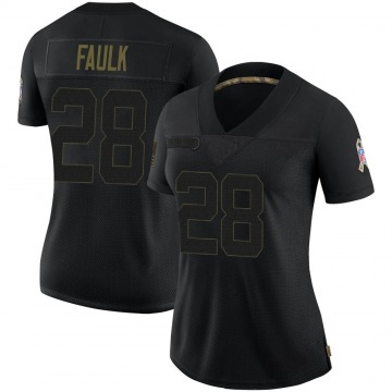 Women's Nike Indianapolis Colts Marshall Faulk Black 2020 Salute To Service Jersey - Limited