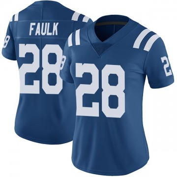 Women's Nike Indianapolis Colts Marshall Faulk Royal Color Rush Vapor Untouchable Jersey - Limited