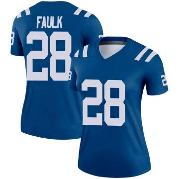 Women's Nike Indianapolis Colts Marshall Faulk Royal Jersey - Legend
