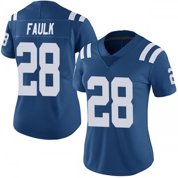 Women's Nike Indianapolis Colts Marshall Faulk Royal Team Color Vapor Untouchable Jersey - Limited