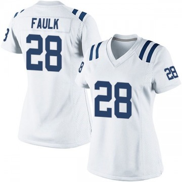 Women's Nike Indianapolis Colts Marshall Faulk White Jersey - Game