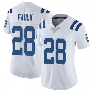Women's Nike Indianapolis Colts Marshall Faulk White Vapor Untouchable Jersey - Limited