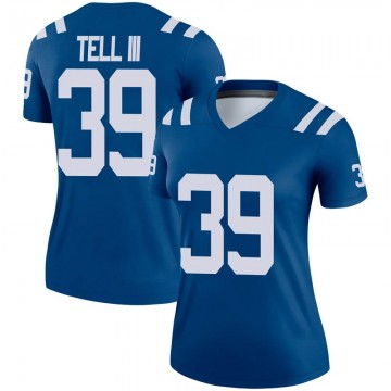 Women's Nike Indianapolis Colts Marvell Tell III Royal Jersey - Legend