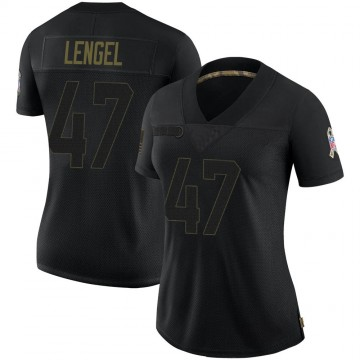 Women's Nike Indianapolis Colts Matt Lengel Black 2020 Salute To Service Jersey - Limited
