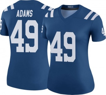 Women's Nike Indianapolis Colts Matthew Adams Royal Color Rush Jersey - Legend