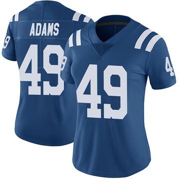 Women's Nike Indianapolis Colts Matthew Adams Royal Color Rush Vapor Untouchable Jersey - Limited