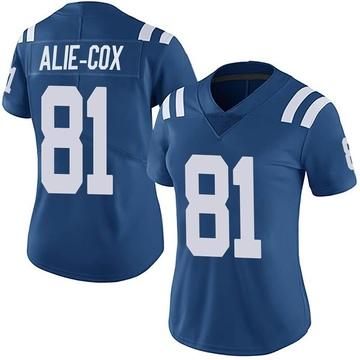 Women's Nike Indianapolis Colts Mo Alie-Cox Royal Team Color Vapor Untouchable Jersey - Limited