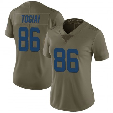 Women's Nike Indianapolis Colts Noah Togiai Green 2017 Salute to Service Jersey - Limited