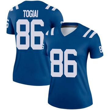Women's Nike Indianapolis Colts Noah Togiai Royal Jersey - Legend