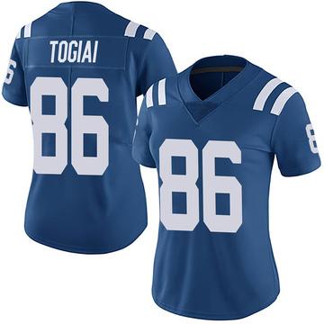 Women's Nike Indianapolis Colts Noah Togiai Royal Team Color Vapor Untouchable Jersey - Limited
