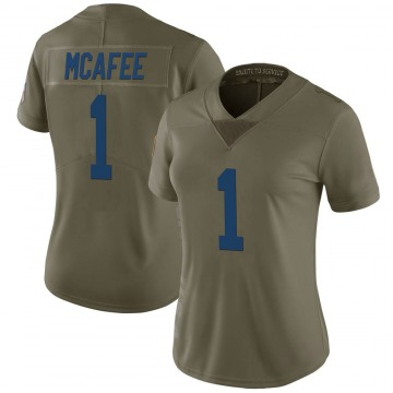 Women's Nike Indianapolis Colts Pat McAfee Green 2017 Salute to Service Jersey - Limited