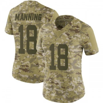 Women's Nike Indianapolis Colts Peyton Manning Camo 2018 Salute to Service Jersey - Limited