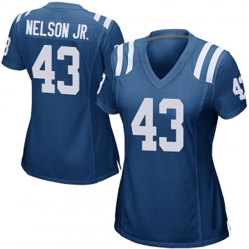 Women's Nike Indianapolis Colts Picasso Nelson Jr. Royal Blue Team Color Jersey - Game
