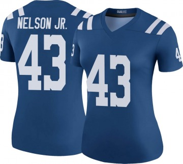 Women's Nike Indianapolis Colts Picasso Nelson Jr. Royal Color Rush Jersey - Legend