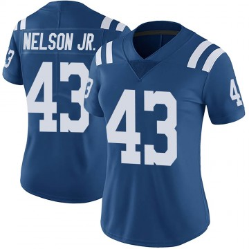 Women's Nike Indianapolis Colts Picasso Nelson Jr. Royal Color Rush Vapor Untouchable Jersey - Limited