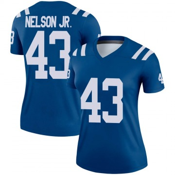 Women's Nike Indianapolis Colts Picasso Nelson Jr. Royal Jersey - Legend