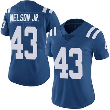 Women's Nike Indianapolis Colts Picasso Nelson Jr. Royal Team Color Vapor Untouchable Jersey - Limited