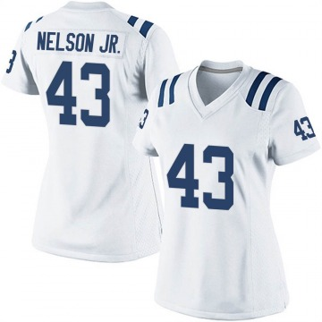 Women's Nike Indianapolis Colts Picasso Nelson Jr. White Jersey - Game