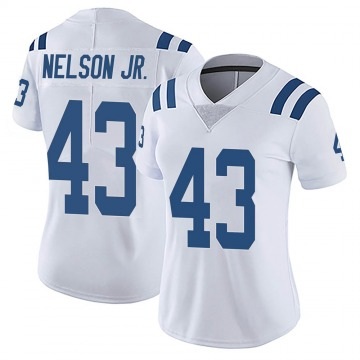 Women's Nike Indianapolis Colts Picasso Nelson Jr. White Vapor Untouchable Jersey - Limited