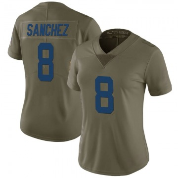 Women's Nike Indianapolis Colts Rigoberto Sanchez Green 2017 Salute to Service Jersey - Limited